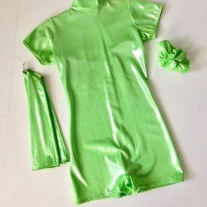 ⭐️Like New⭐️Neon Green Metallic Costume